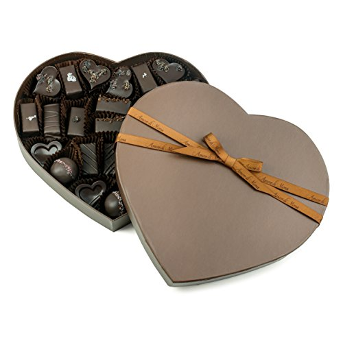 Fine, Artisanal, Vegan Chocolate Gift: Amore di Mona 33 Piece Brown Amore Assortment: Made Pure & Simply with Premium Ingredients That Are All Natural, Non-GMO, Kosher, Gluten, Soy, Sesame & Nut Free