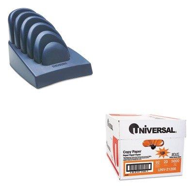 KITKMW62061UNV21200 - Value Kit - Kensington InSight Priority Puck Five-Slot Desktop Copyholder (KMW62061) and Universal Copy Paper -