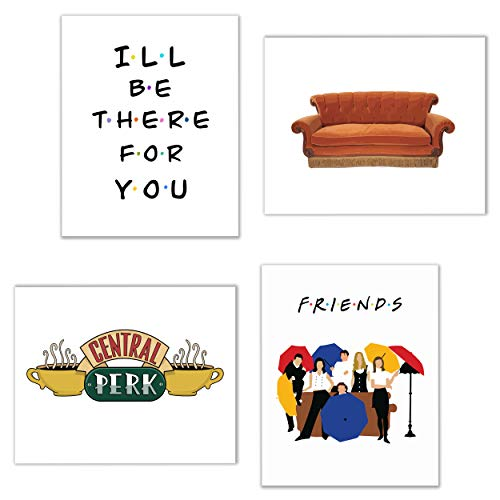 Friends TV Show Photos - Set of Four 8x10 Prints - Rachel Joey Phoebe Ross Monica Chandler (Best Friends Framed Print)