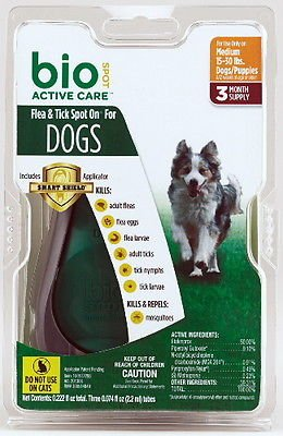 Bio Spot Defense Dog (Bio Spot Active Care Flea & Tick Spot On Dog Medium 3)