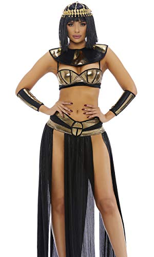 Forplay Women's Pharaoh to You Sexy Cleopatra Costume, Gold, S/M