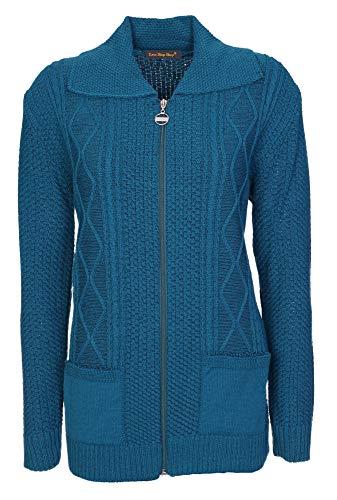 Blue Mid Vert Lets fonc Clear 44 Gilet Shop Buttons Shop bleu Femme TgZw7qT