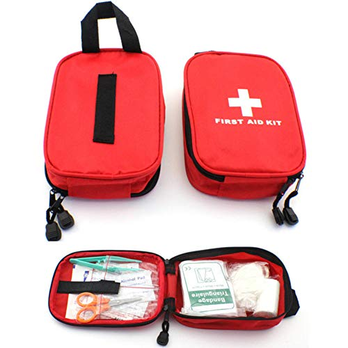 CDJX First Aid Kit Bag,120 Piece Emergency Survival Situations Kit Includes Emergency Foil Blanket,CPR Face Mask,Scissors for Travel Home Car Travel Camping Workplace Office Survival Outdoor