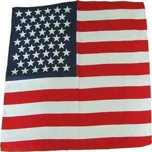 Brand new Item Ideal Bikers Cowboy parties etc. Stars and stripes USA 100 /% Cotton Bandana,Scarf,55cm square