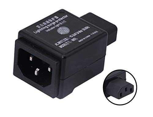 CERRXIAN C14 Male to C13 Female Surge Protector Power Strip Outdoor Arrester Protection Device Extension Adapter
