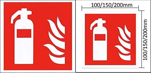 Brandschutzzeichen Feuerlöscher Brandschutzschild selbstklebend nachleuchtend 7010 Symbolschild ASR A1.3 (200x200mm Folie)