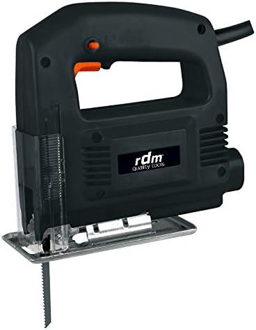 Sierra de calar profesional RDM Quality Tools 70002, 350W, giro reversible, velocidad variable, botón de bloqueo. Color negro y naranja.
