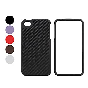 Lines Style Bumper and Case for iPhone 4 and 4S (Assorted Colors) --- COLOR:Black