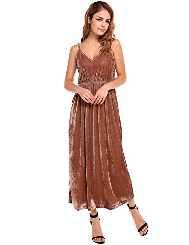 Brown Halter Dress - 3