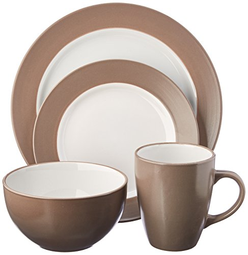 Pfaltzgraff Harmony Taupe 16-Piece Stoneware Dinnerware Set, Service for 4