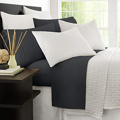 Zen Bamboo Luxury 1500 Series Bed Sheets - Eco-friendly, Hypoallergenic and Wrinkle Resistant Rayon Derived From Bamboo - 4-Piece - King - Grey