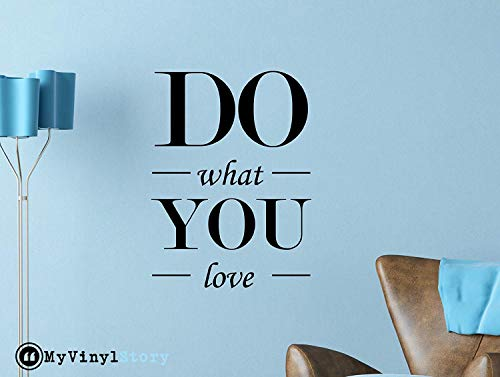 Inspiring Typography Wall Decal Quote Do What You Love 23 x 17 inches