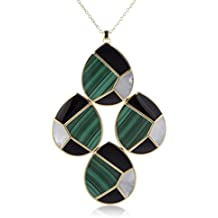 IPPOLITA Polished Rock Candy 18K Yellow Gold Multi-Colored Stones Large Teardrop Pendant Necklace