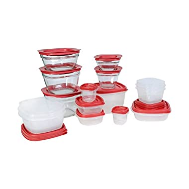 Rubbermaid Easy Find Lids Food Storage Container, Plastic and Glass 30-piece Set