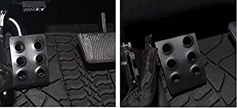 Kick Panel Black Metal Pedal Left Side Foot Rest for 2007-2017 Jeep Wrangler JK JKU Unlimited Rubicon Sahara X Sport Accessories Parts