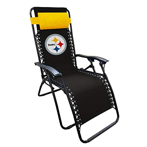 Logo Brands NFL Pittsburgh Steelers Unisex Pittsburgh Steelers Zero Gravity LoungerLogo Brands Pittsburgh Steelers Zero Gravity Lounger, Multi, One Size