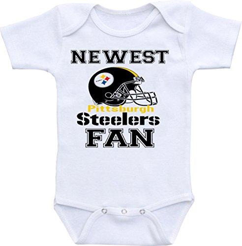 Dazzle Studios est Steelers Fan Funny Baby Onesie Bodysuit