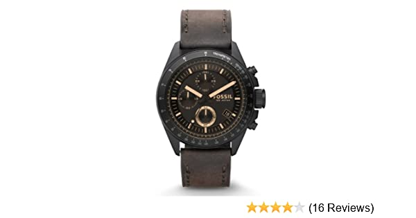 Amazon.com: Fossil Mens CH2804 Stainless Steel Analog Black Dial Watch: Fossil: Watches