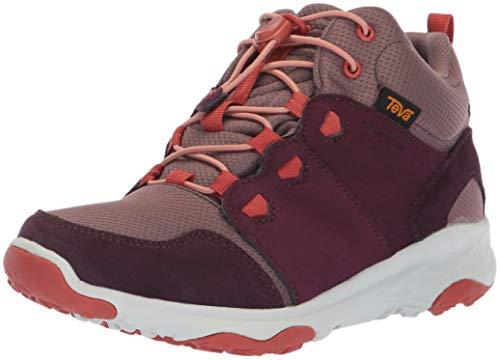 (Teva Girls' Arrowood 2 MID WP Hiking Shoe, Plum, 04 M US Big Kid)