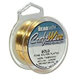 Gold Plated Non Tarnish Wire 22 Ga.8 Yard