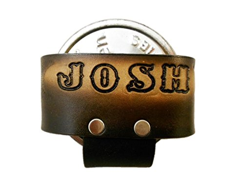 Custom Tooled Leather Snuff Can Holder, MADE to ORDER, Chewing Tobacco Case, Names or Initials Up to 7 (Chew Holder)