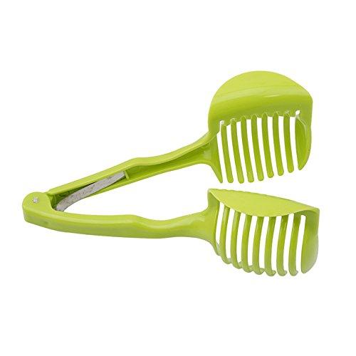 Rurah Vegetables Slicer ,Multifunctional Handheld Tomato Round Slicer Fruit Vegetable Cutter,Lemon Shreadders Slicer by Rurah (Image #3)