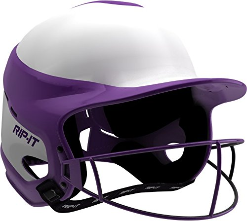 RIP-IT Vision Pro Softball Helmet ft. Blackout Technology - Purple - Small/Medium