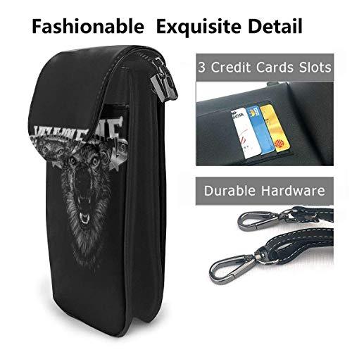 Hdadwy mobiltelefon crossbody väska YeLawolf läder smartphone crossbody plånbok handväska, kvinnor liten crossbody väska