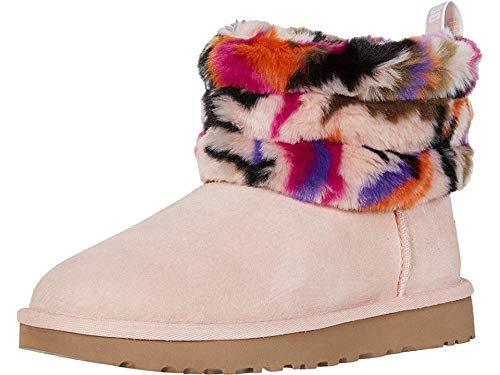 UGG Women's Fluff Mini Quilted MOTLEE Fashion Boot, Multi, 8 M US