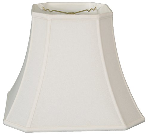 Royal Designs Square Cut Corner Bell Lamp Shade, Linen White, 9 x 16 x 13 by Royal Designs, Inc