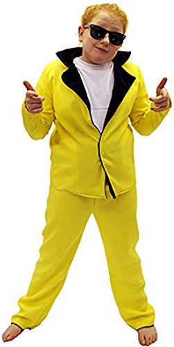 Rock and Roll-Stage-Musical-Grease-Panto-Fancy Dress Teddy Boy Yellow Child's Costume - All Ages -