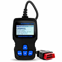 Autophix OM123 Obd2 Scanner Car Engine Trouble Codes Diagnostic Scan Tools, Fault Code Reader, Turn Off Check Engine Light (MIL) and Resets Monitors For OBD II Vehicles (Grey Blue)