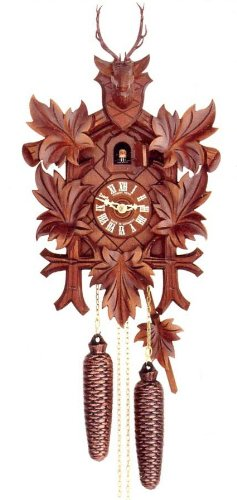 Original Eight Day Movement Cuckoo Clock with Deer Head 22 Inch