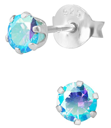 Sterling Borealis Crystal Earrings Hypoallergenic product image