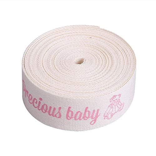 5 Yard - 5 Yard Ribbon Clothing Tape Label Handmade Bows Clothes Ornament Diy Craft Sewing Candy Boxes Gift - Kilts Fuller Siser Saree Transfer Fabric Silk Yellow Pure Zipper ()
