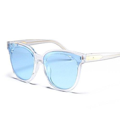de Cara Ojo de de Sol Ojos Mujer de E Gafas Mujer de Redonda D Sunscreen WCP Gafas Sol Gafas Retro Pequeña Sol de Cara qaTY08