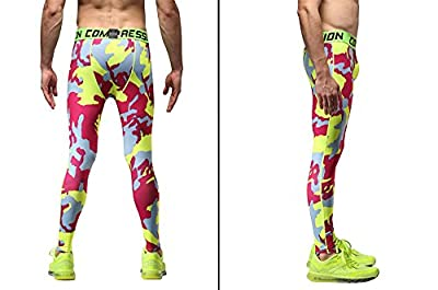 Wogiz 1Bests Men and Yonth Boy Fitness Compression Pants Running Tights Length Pants Leggings