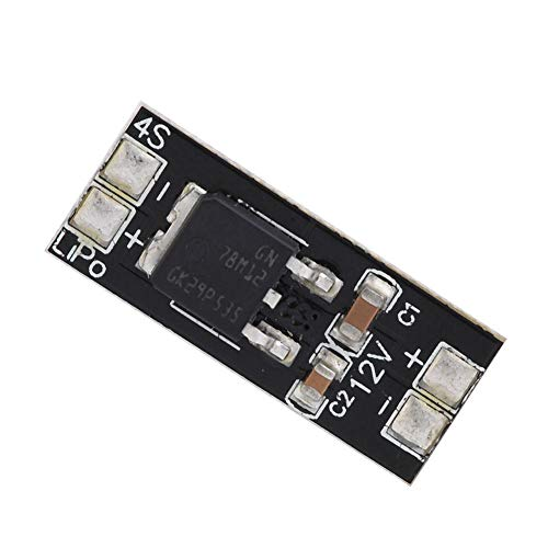 Linear Voltage Regulator Module, PCB BEC 4S LiPo Output 12V for Quadcopter Drone Camera Plane Model Component RC Accessory