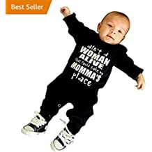TiTCool Newborn Infant Baby Solid Letter Print Black Romper Jumpsuit Outfits Clothes