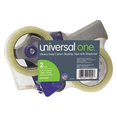 HD Sealing Tape, Dispenser, 48mmx54.8m, PK2 by Universal One (Image #1)