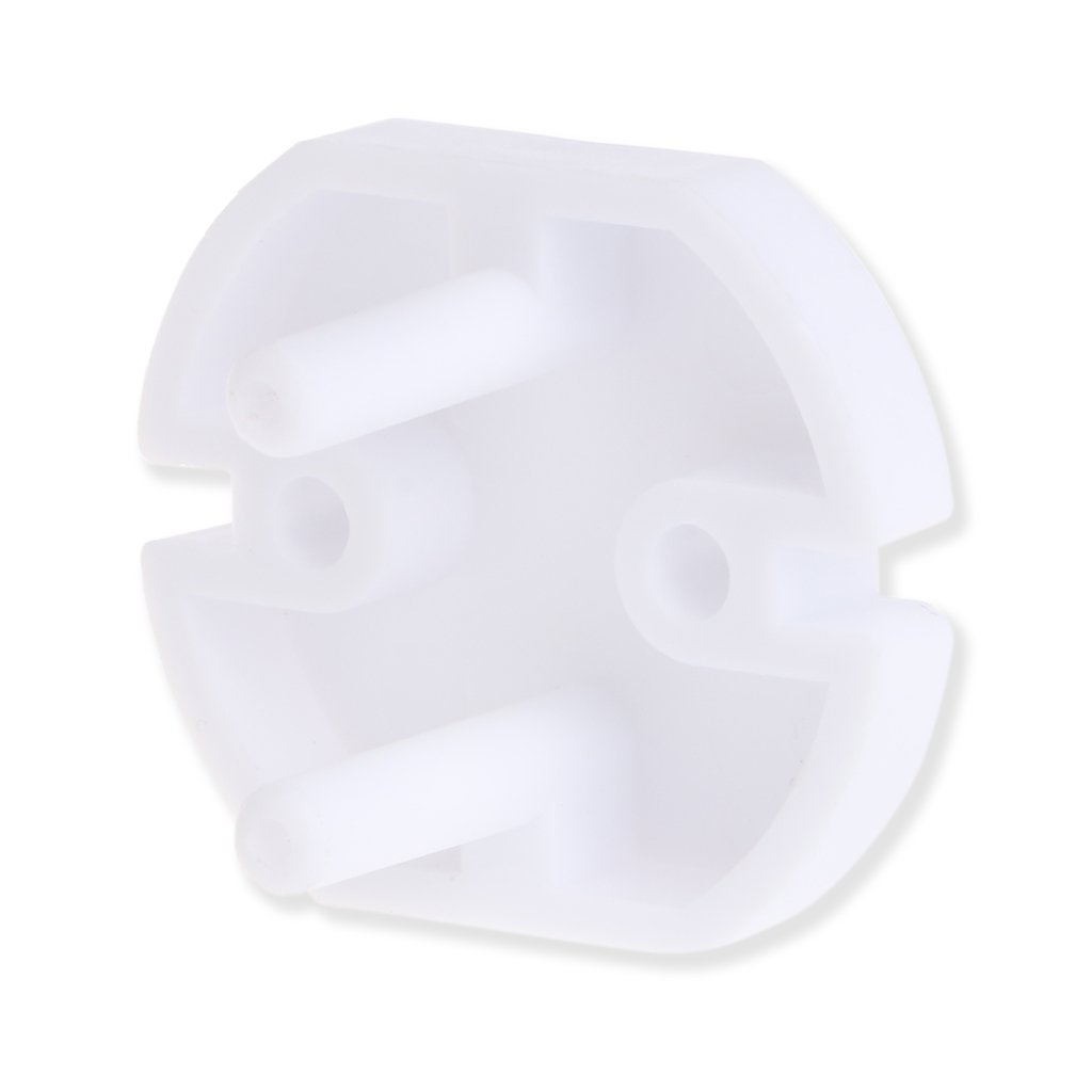 Dabixx EU Power Socket Electrical Outlet Baby Child Safety Guard Protection Anti Electric Shock Plugs Protector Rotate Cover 10 Pieces White 3.7x3.3x2.4cm//1.46x1.30x0.94
