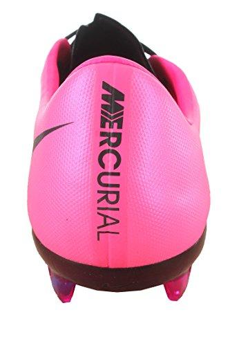 Nike Mercurial Vapor X Leather Fg - Zapatillas de fútbol Hombre Black, Hyper Pink