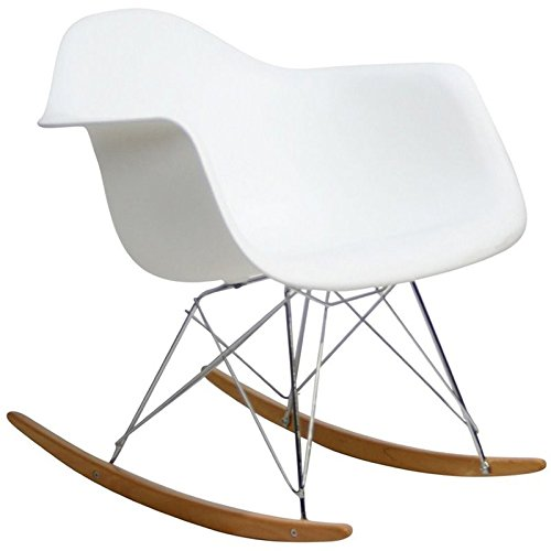 Hawthorne Collections Plastic Rocker in White by Hawthorne Collections