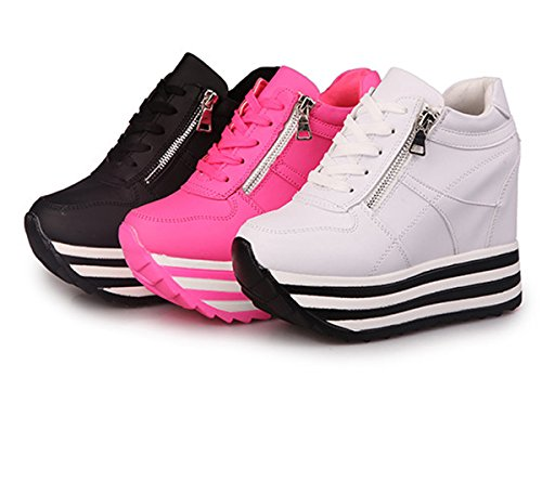 Shoes Flat Wedges Up bottomed High Casual Higher Well The Womens Rose Within Sneaker Heels Increased Platform Yc Heavy Lace vq0OYwRn