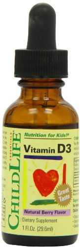 Child Life Vitamin D3, Berry Flavor, Glass Bottle, 1 Ounce