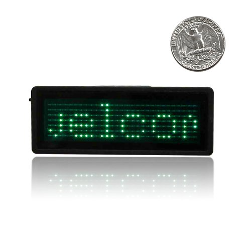 Battery Powered Scrolling Name Badge