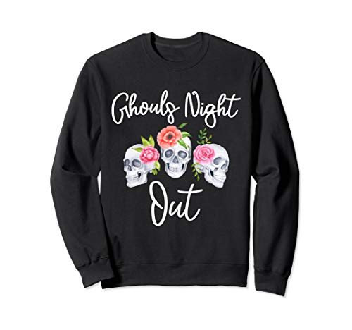 Ghouls Night Out Quote -Skull and Roses