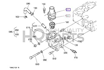 Kubota 19077-73260 Replacement Thermostat Cover for Tractor