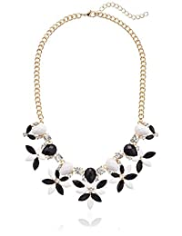 Abstract Floral Statement Pendant Necklace