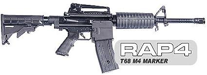 Amazon.com : RAP4 T68 M4 Gen6 - Magazine Fed Paintball Gun ...